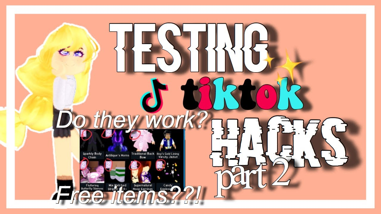 (part 2) testing royale high tiktok hacks to see if they work! || ♡