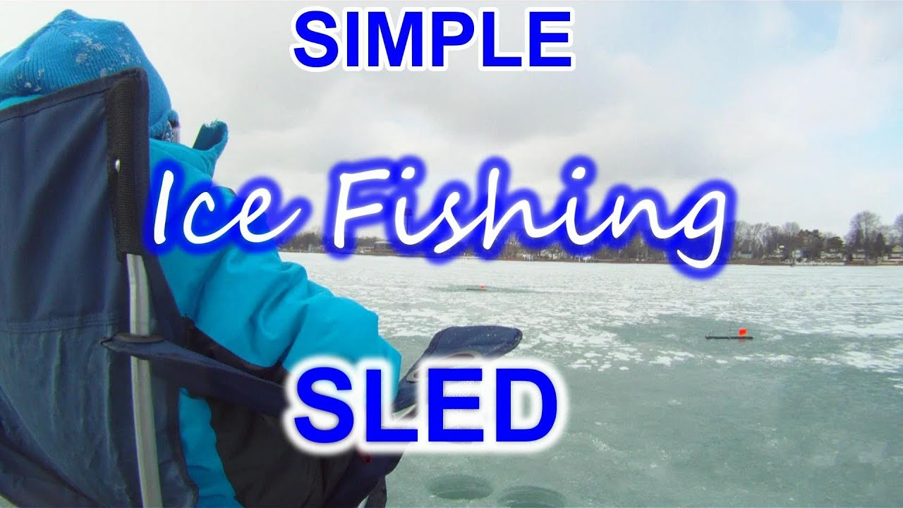 Ice fishing sled for the lazy kid youtube for Ice fishing youtube