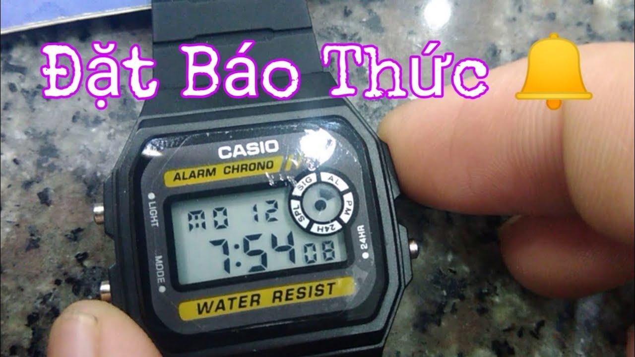 Cách đặt báo thức trên đồng hồ casio f-94w @Nguyễn_Văn_Vương