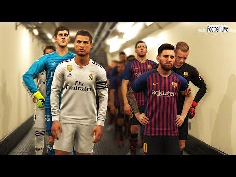 C.RONALDO return to REAL MADRID ??? | El Clasico | Barcelona vs Real Madrid | PES 2019 Gameplay PC