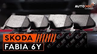 Как се сменят Предни спирачни накладки SKODA FABIA 6Y на  урок | Autodoc