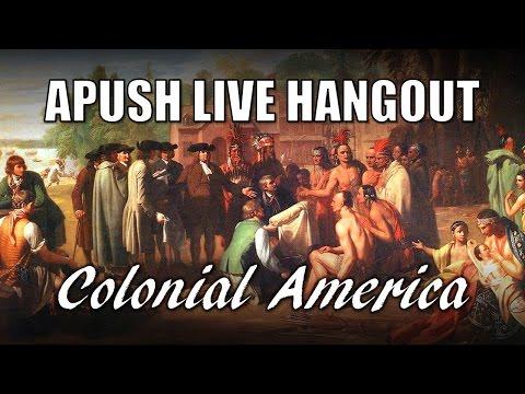 APUSH Colonial America Review (Live Hangout)