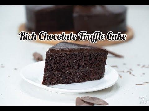 Rich Chocolate Truffle Cake   Chocolate Truffle Cake Recipe   How To Make Chocolate Truffle  Cake