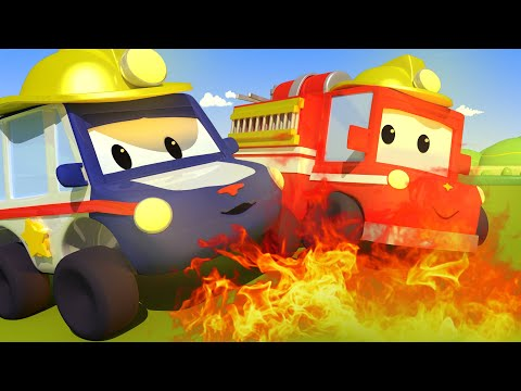 The Fire - Tiny Town: Street Vehicles Ambulance Police Car Fire Truck