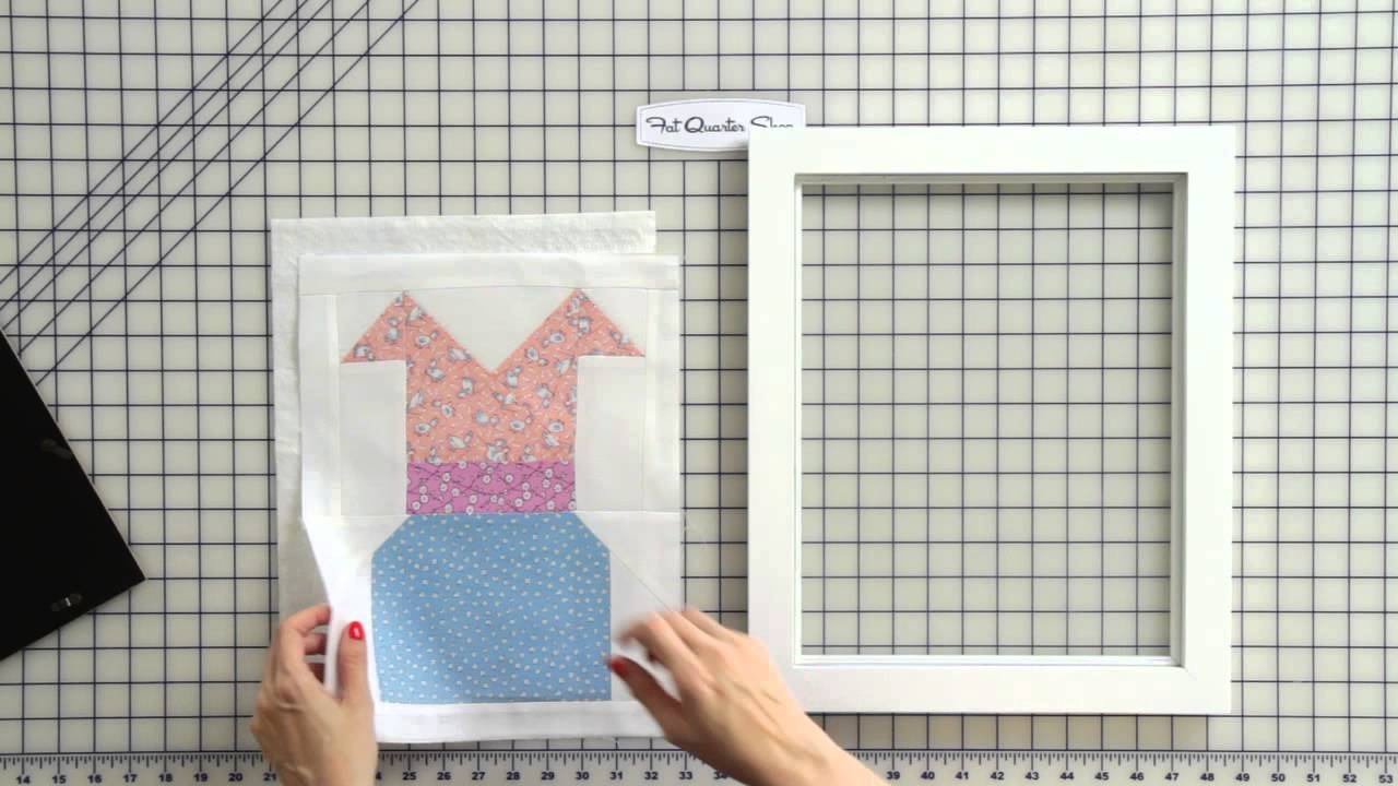 How to Frame a Quilt Block Easy DIY - Fat Quarter Shop - YouTube