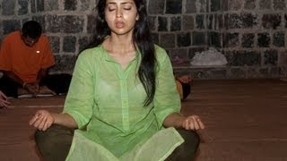 Shriya, Lakshmi Rai & Other Actresses Find Peace At Ashramams