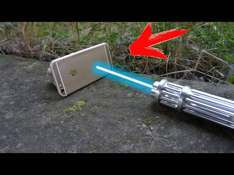 EXPERIMENT: POWER LASER VS. IPhone 6S
