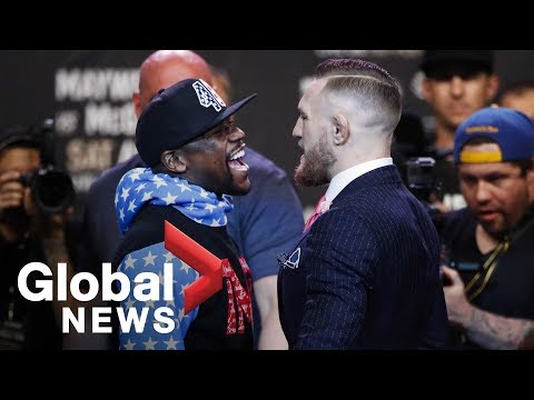 Thumbnail: Floyd Mayweather vs. Conor McGregor face off full press conference ahead of August showdown