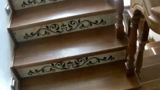 Красивая деревянная лестница в дом .(Лестница из ясиня ., 2016-04-07T18:17:43.000Z)