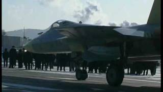 Sukhoi T-50 PAK-FA prototype first flight