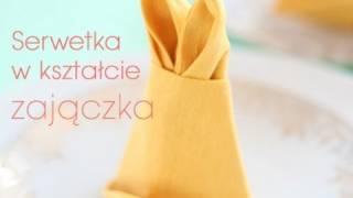 Serwetka zajączek wielkanocny | Easter Bunny napkin folding | Dorota Kamińska