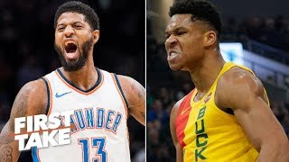 Paul George, not the Greek Freak is leading the MVP race - Stephen A. | First Take