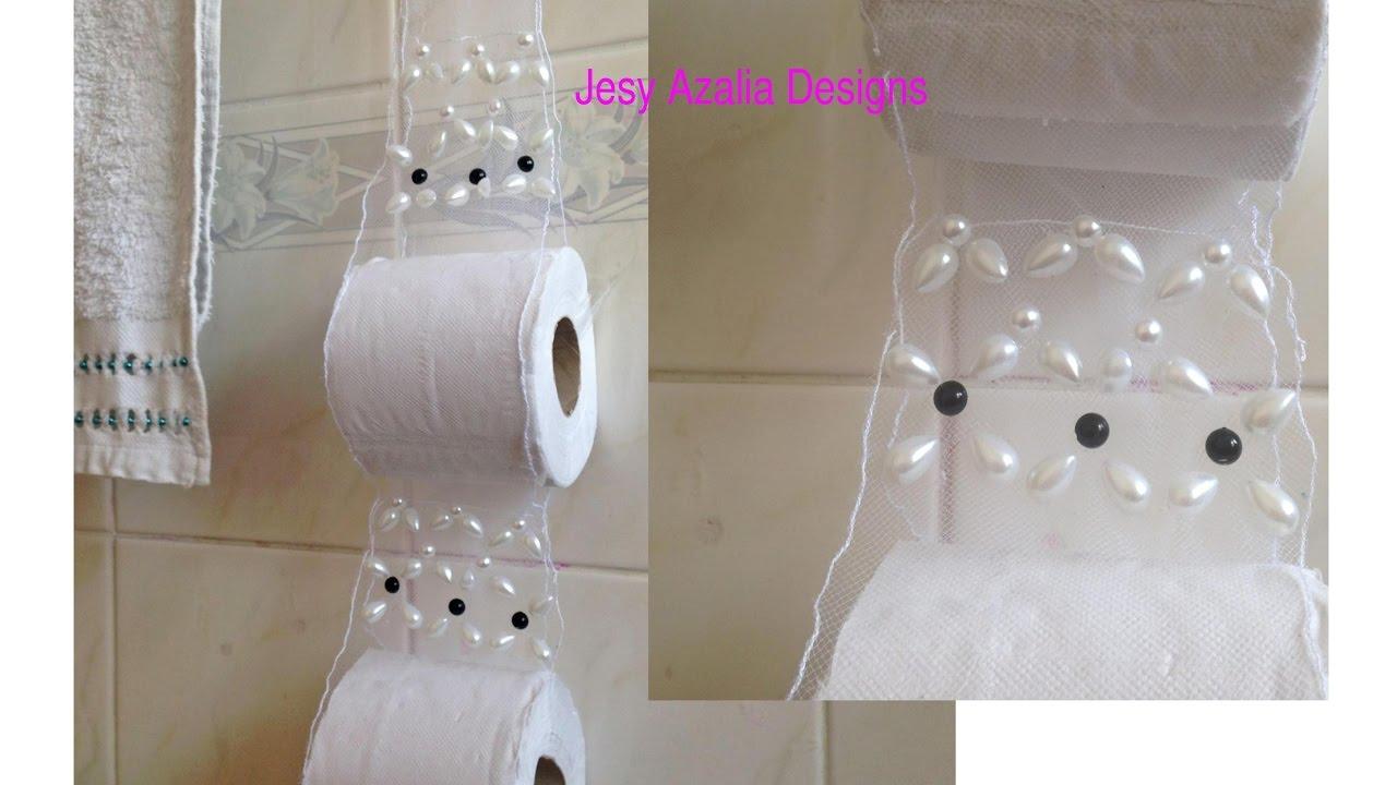 Diy Pearl Beaded Tissue Holdertoilet Decor Idea Youtube