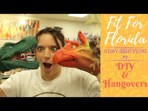 Fit For Florida | Vlog 7 | We Tiled a Kitchen Wall & Hangove