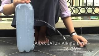 praktikum fluida dinamis (kebocoran air pada tanki)