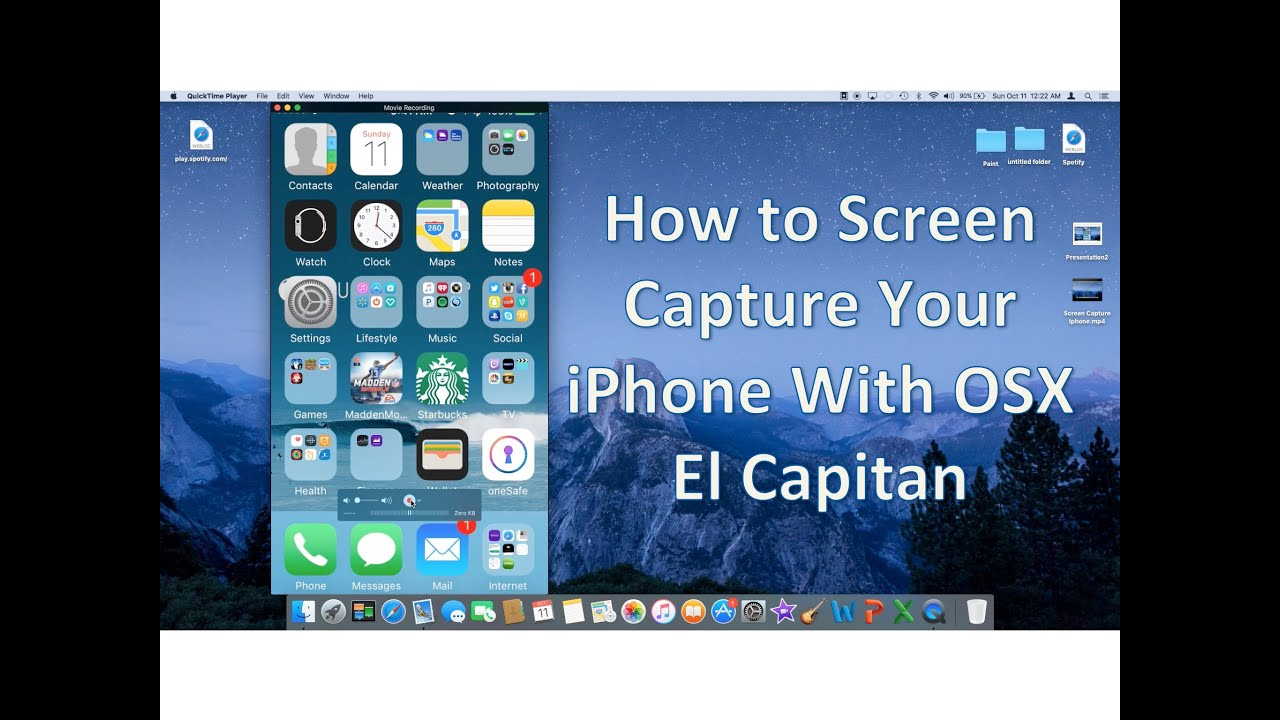 How to screen capture iphone while using os x el capitan youtube ccuart Gallery