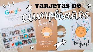 3 tarjetas de CUMPLEAÑOS! (Súper originales) ✄ Barbs Arenas Art!