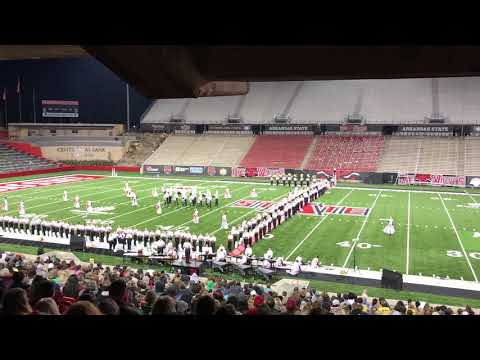 """Cabot High School Marching Band 2018 """"The Red Line"""" A-State Open"""