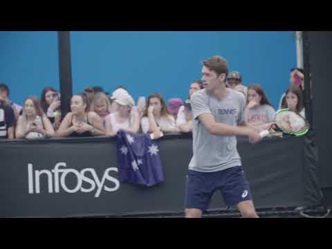 De Minaur Trains Friday At Australian Open 2019