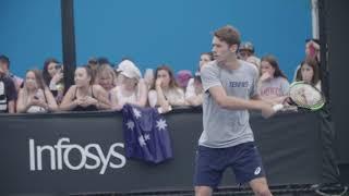 De Minaur Trains Friday At Australian Open 2019 thumbnail