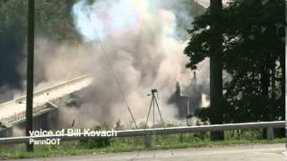 Masontown Bridge comes down