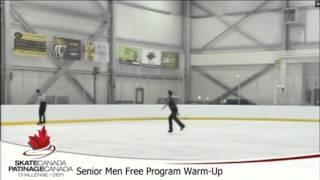 2016 Skate Canada Challenge Free Program Warm Up with Kevin Reynolds
