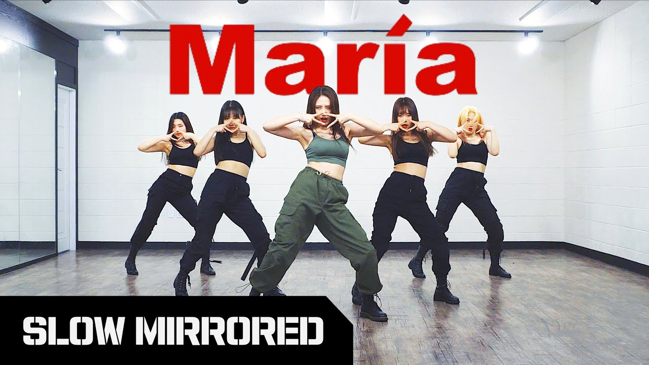 [SLOW] 화사 (Hwa Sa) - '마리아 (María)' | 안무 배우기 느리게 거울모드 SLOW MIRRORED
