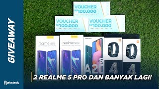 GIVEAWAY | Realme 5 Pro, Samsung Galaxy A20s & Xiaomi Mi Band 4 Spesial 400K Subscribers!!