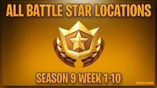 ALL SECRET BATTLE STAR LOCATIONS WEEK 1-10 - Fortnite Battle Royale Season 9 Utopia Challenges