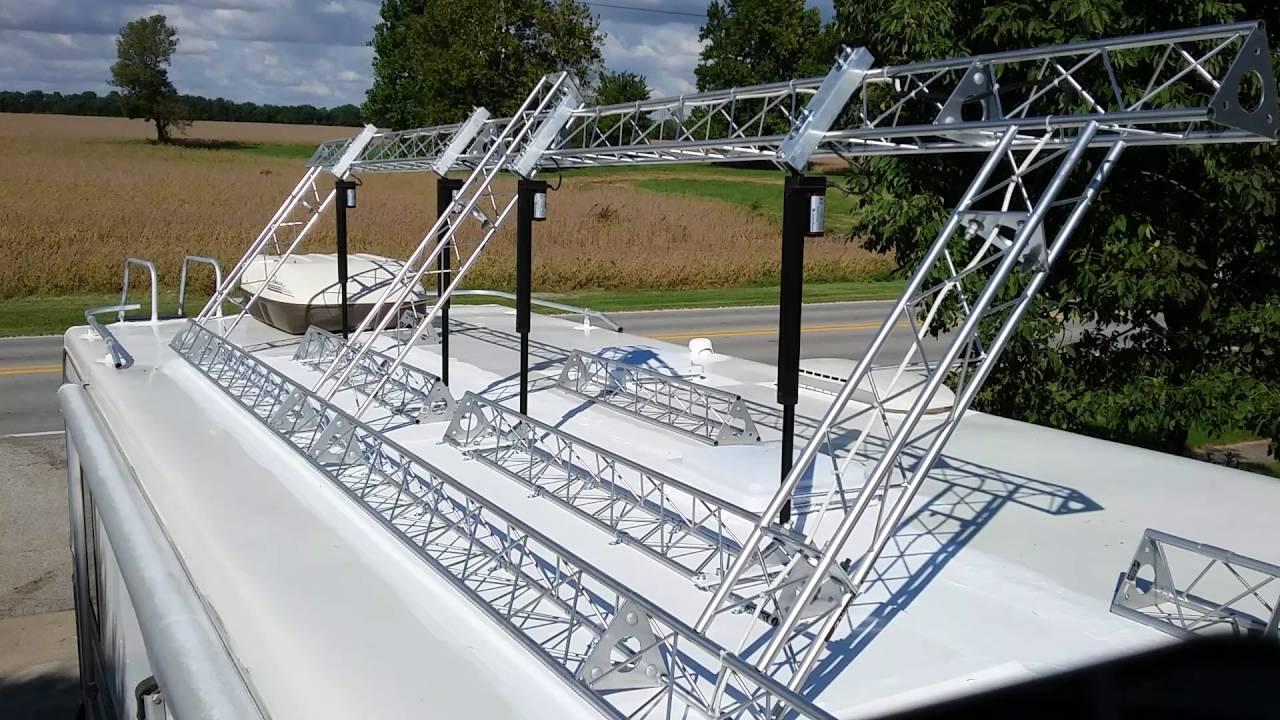 Rv Solar Panel Frame Remote Tilt Youtube
