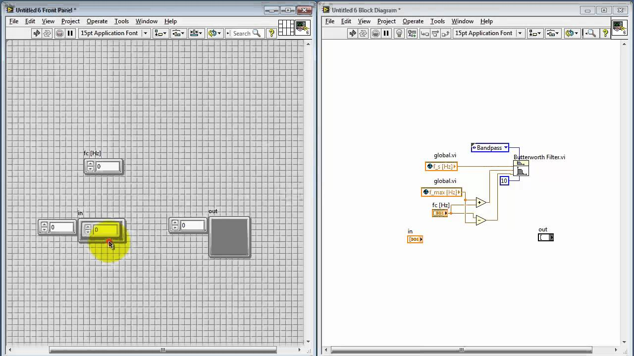 Ni Labview Bandpass Filter Subvi Youtube Rlc Low Pass Circuit For Pinterest