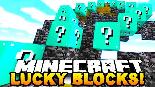 Minecraft Modded Minigame: 1v1 LUCKY BLOCK RACE! #1 w/Preston & Woofless