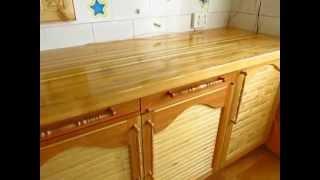 Кухонный стол из массива и филенчатые дверки - легко!(Легкий способ изготовления мебели из массива.Лакировал обычной кистью - флейцем, на 6-7 слоев. И конечно,..., 2014-06-08T12:31:17.000Z)