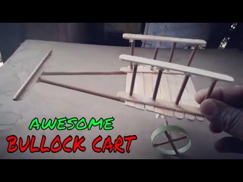How to make Bullock cart | Bull Car Craft ( Bail Gaadi )