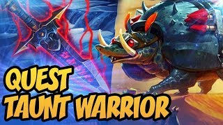 Quest Taunt Warrior   Saviors of Uldum   Hearthstone