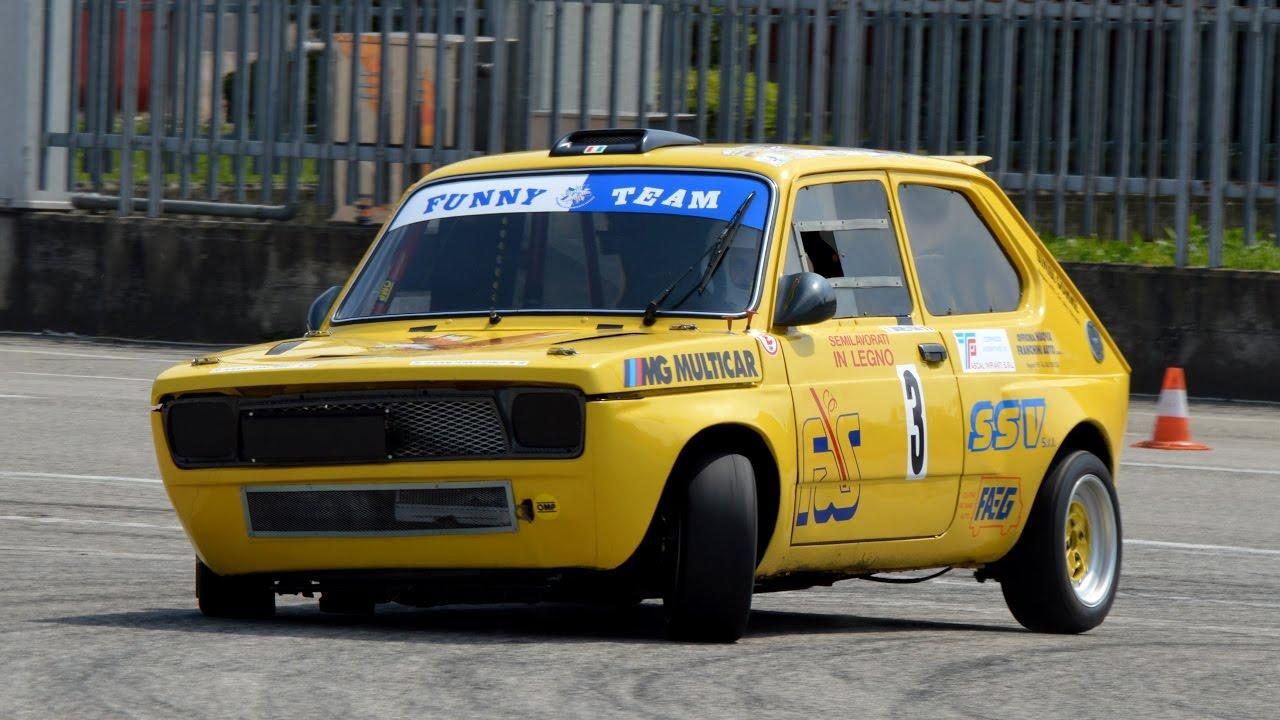 Fiat fiat 127 : 130 HP FIAT 127 slalom racing & on board - YouTube