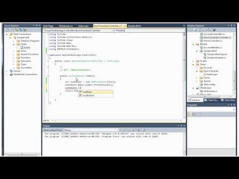 ASP.NET Event Calendar - Video Tutorial