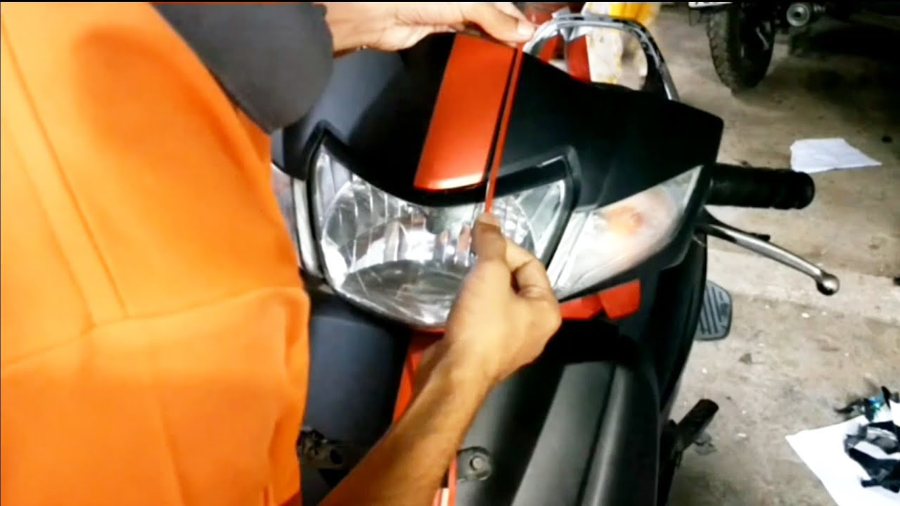 Honda Activa wrapping | Activa modified | Red Lining | The Stickers