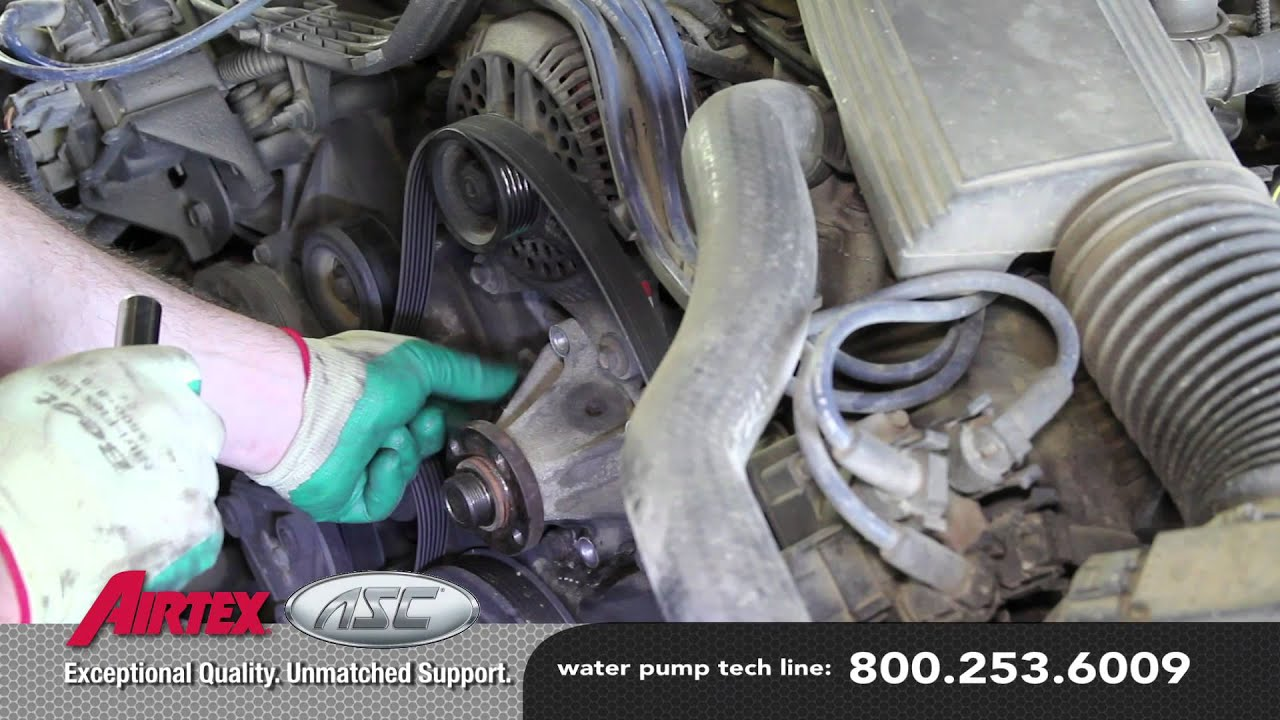 how to install a water pump ford 4 6l v8 rwd wp 836 aw4066 [ 1280 x 720 Pixel ]