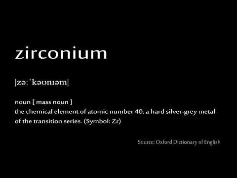 40 Zirconium How To Pronounce Chemical Elements Periodic Table