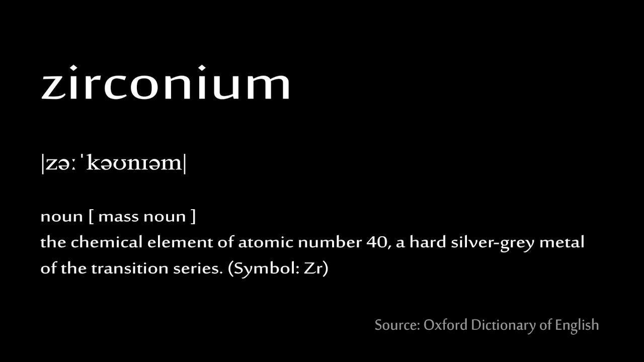 40 Zirconium How To Pronounce Chemical Elements Periodic Table