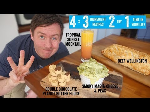 4 x 3 Ingredient recipes 2 try 1 time in your life! Part 3