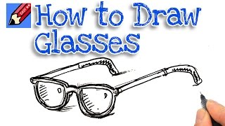 How to draw a pair of glasses Real Easy