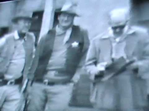 john wayne and john ford talking to ward bond