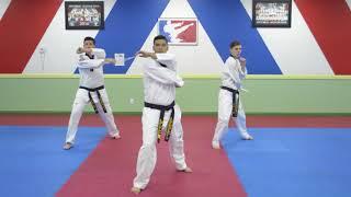 Han Bros Taekwondo Brown Belt Single Nunchuck 9-12