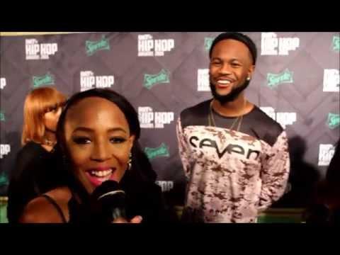 Casey Veggies on the BET Hip-Hop Awards 2015  Green Carpet
