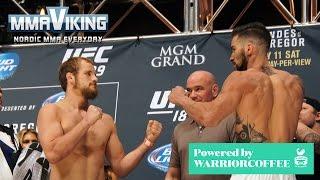 Gunnar Nelson Weigh-In for UFC 189