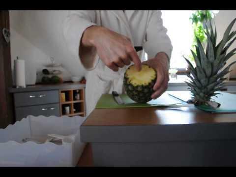 ananas schneiden leicht gemacht youtube. Black Bedroom Furniture Sets. Home Design Ideas