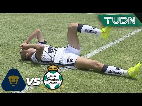 ¡POLÉMICA! ¡No marcan penal en el área!  |Pumas 0-0 Santos| Guard1anes 2020 Liga Mx Femenil J1|TUDN