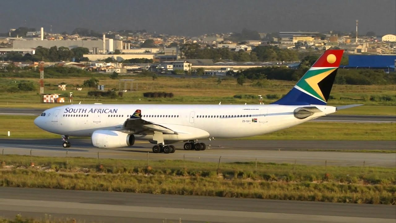 Hd  South African A330-243 At Guarulhos Grusbgr -2756